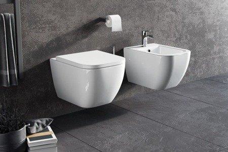 Excellent miska Wisząca WC NESS biała z deską wolnoopadającą